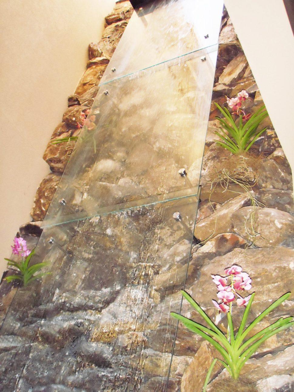 Cascatas com Vidros